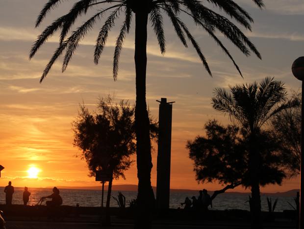 Sonnenuntergang in Arenal